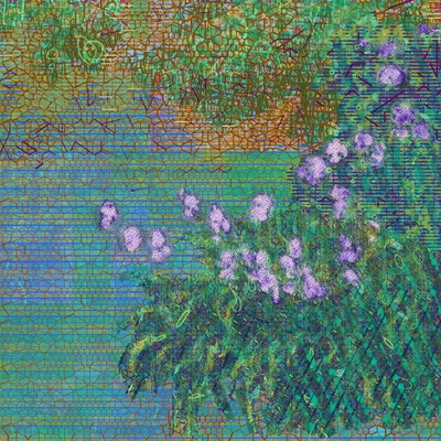 Artwork NFT 16<br/>Irises after Claude Monet