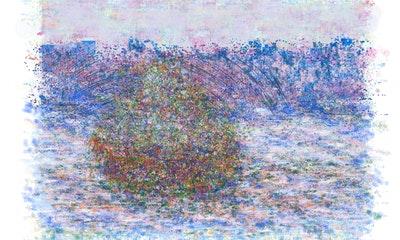 Artwork NFT 14<br/>Stack of Wheat after Claude Monet Deconstruction I