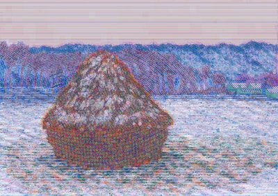 Artwork NFT 15<br/>Stack of Wheat after Claude Monet