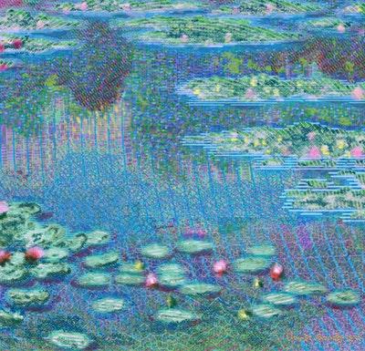 Artwork NFT 18<br/>Water Lilies after Claude Monet